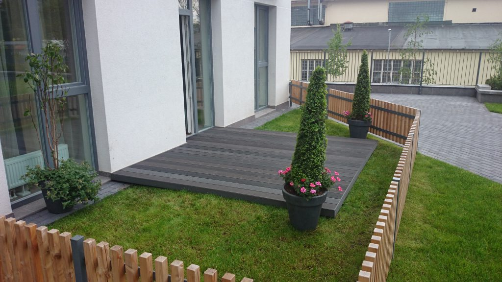 Lauko terasų montavimas