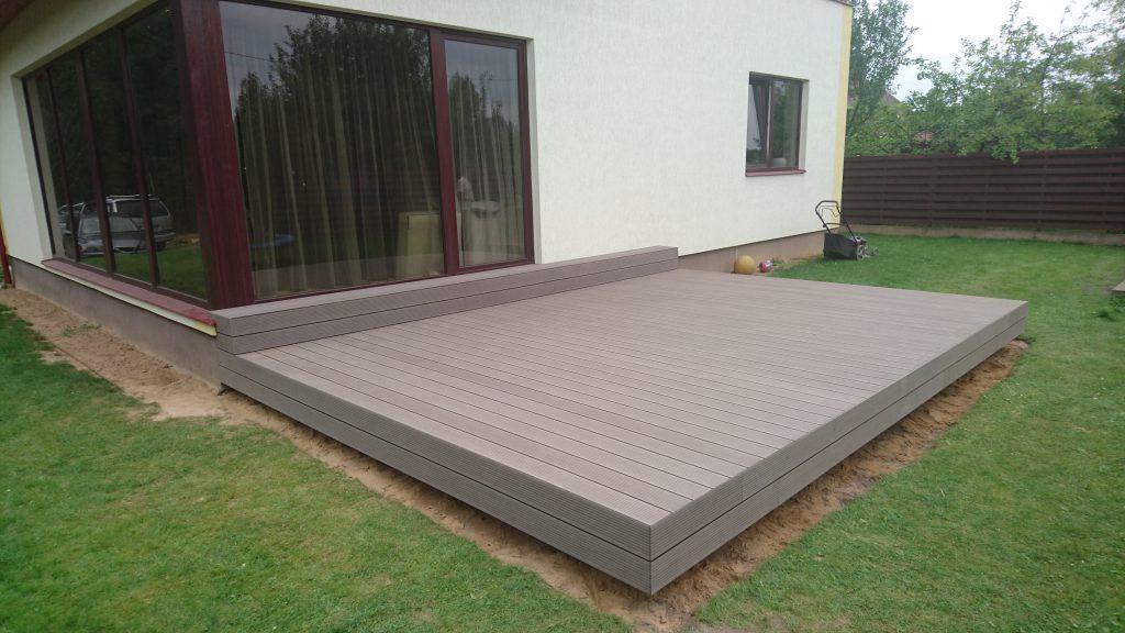 Lauko terasos montavimas